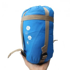 NatureHike Camping Traveling Gadgets 190 x 75cm 360D Nylon Sleeping Bag with Compression Sack Sky Blue