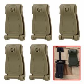 5pcs Outdoor POM Belt Connection Buckles for Backpack Webbing Khaki