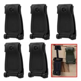 5pcs Outdoor POM Belt Connection Buckles for Backpack Webbing Black