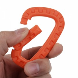 Outdoor Lightweight POM Tactical Carabiner Keychain Orange