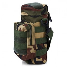 Tactical Outdoor Traveling Utility Water Bottle Bag Pouch Jungle Camouflage
