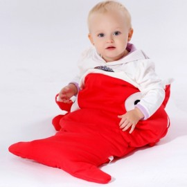 Cute Cartoon Shark Style Newborns Sleeping Bag Winter Strollers Bed Blanket Red
