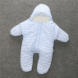 Baby Unisex Starfish Shaped Cotton Sleeping Bag Newborn Baby Outside Sleeping Bag Blue