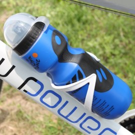 Portable Outdoor Bicycle 750mL Sports Drink Jug Water Bottle Blue & Black