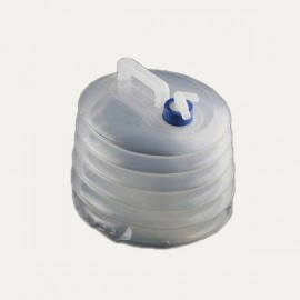 Portable Outdoor Camping Bucket Collapsible Water Carrier Container 8L White