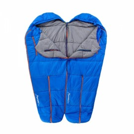 Naturehike 198 x 75 x 50cm Human-shaped Portable Warm Cotton Filling Sleeping Bag for Camping Home Blue