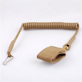 Outdoor Equipment High Quality Elastic Anti-lost Tactical Stretching Rope Anti-Theft Key Hanging Retractable Buckle Khaki
