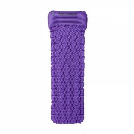 Naturehike Outdoor Inflatable Cushion Sleeping Pad with Pillow Purple