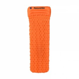 Naturehike Outdoor Inflatable Cushion Sleeping Pad with Pillow Orange