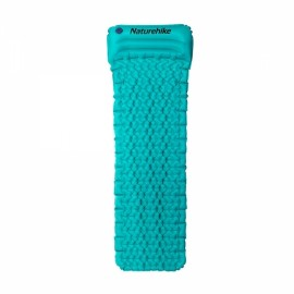 Naturehike Outdoor Inflatable Cushion Sleeping Pad with Pillow Blue