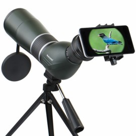 SUNCORE IPRee 12-36X50A Monocular Bird Watching Telescope HD Optic Zoom Lens View Eyepiece Black