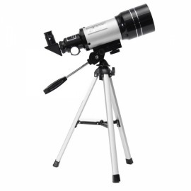 Outdoor F30070M HD Monocular High Definition Terrestrial Astronomical Telescope with Tripod Black & Silver