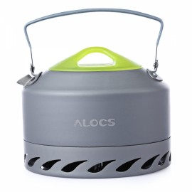 Alocs Outdoor Portable 0.9L Water Kettle Camping Hiking Teapot Picnic Boiling Kettle Travel Teaware