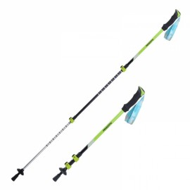 Naturehike 3 Section Trekking Pole Adjustable Folding Walking Stick Camping Aluminium Alpenstock Green