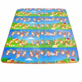 BartoniseN 1.8m*1.5m Wear-resisting Portable Outdoor Moisture-proof Camping Picnic Mat Cartoon Monkey