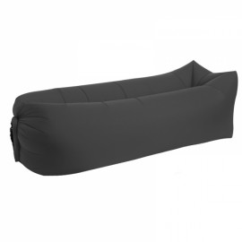 Portable Air Inflatable Bed Sleeping Sofa Couch for Travelling Camping Beach - Black
