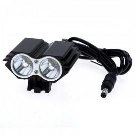 SL-8208B U2 2000lm 4-Mode White Light Bicycle Light Headlamp Black (4 x 18650)