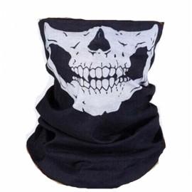 Multifunctional Skull Ghost Pattern Dustproof Biker Mask Scarf