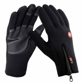 Outdoor Winter Sports Cycling Skiing Warm Touch Screen Gloves Black L