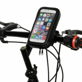 Cwxuan Bicycle Anti-dust Anti-shock Touch Screen Waterproof Case for 4-4.7inch Phone Black