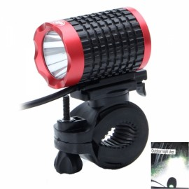 LR-360K1E-1R 900lm 6-Mode White Light 2-LED Bicycle Lamp Black & Red (4 x 18650)