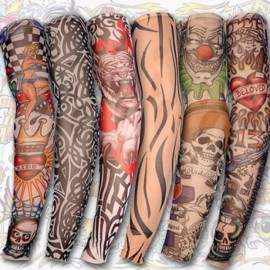 Sun Protection Cycling Arm and Leg Tattoo Sleeve Random Delivery