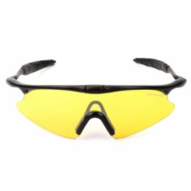 Free Soldier FS-YJ96 SWAT UV400 Protection PC Lens Plastic Frame Men's Sports Sunglasses Black