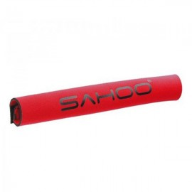 SAHOO Soft Fabric Bike Bicycle Chainstay Protector Velcro Sticker Red
