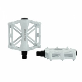 BaseCamp MTB Bicycle Pedal Road Bike Slip-resistant Ultra-light Aluminum Alloy Ball Bearing White