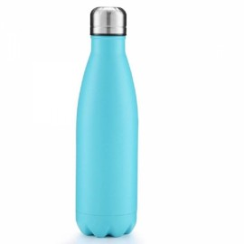 500ml Insulation Water Bottle Thermos Flask - Solid Color Sky Blue