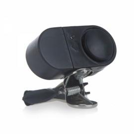 Electronic Night Fishing Burglar Alarm Rod Bite Strike Alert Fish Clip Bell with LED Light Black