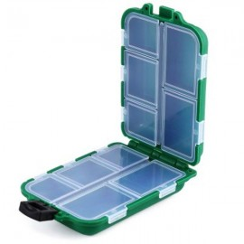 10 Compartments Portable Foldable Fishing Tackle Box Green