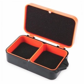 Thickened Plastic Multifunctional Earthworm Bait Lure Fishing Tackle Box Orange M