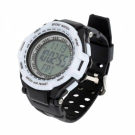 Heart Rate Monitor with Pedometer Digital Sports Watch Calorie Counter Black & White