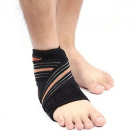 AOLIKES A-7126 Breathable Ankle Support Brace Protector Right Ankle Black