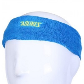 Aolikes Outdoor Sports Exercise Breathable Elastic Sweat Headband Sky Blue