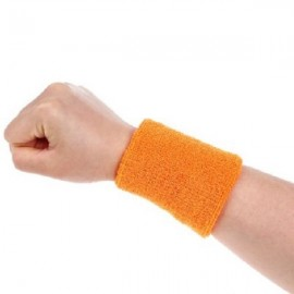 Aolikes Soft Breathable Sweat Absorbing Sports Wrist Support Band Orange