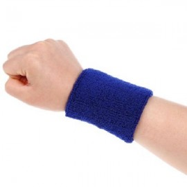 Aolikes Soft Breathable Sweat Absorbing Sports Wrist Support Band Dark Blue