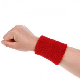 Aolikes Soft Breathable Sweat Absorbing Sports Wrist Support Band Rose Red