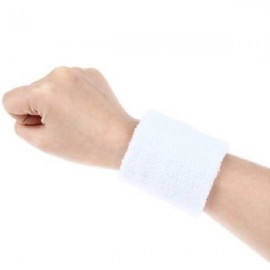 Aolikes Soft Breathable Sweat Absorbing Sports Wrist Support Band White