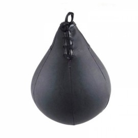 Leather Vertical Boxing Punching Bag Speedball Ceiling Ball Mini Desktop Ball Black