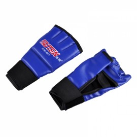 SUTEN Upscale Boxing Gloves Training Equipment Half Finger Mitts Blue & Red Word