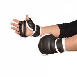 Half Fingers Kids/Adults Sandbag Punch Training Boxing Gloves White & Black