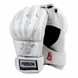 WOLON Thai Kick Boxing Gloves Half-finger Fighting Boxing Gloves White