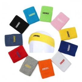 Aolikes Outdoor Sports Breathable Elastic Sweat Headband And Wrist Band