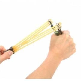 3pcs Elastic Rubber Bands for Slingshot Yellow