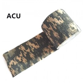 5cm x 4.5m Kombat Army Camo Wrap Sports Shooting Hunting Camouflage Stealth Self-adhesion Tape ACU Digital Camouflage