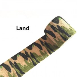 5cm x 4.5m Kombat Army Camo Wrap Sports Shooting Hunting Camouflage Stealth Self-adhesion Tape Land Camouflage