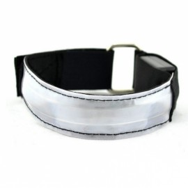 3 Modes LED Safety Reflective Armband for Night Cycling White