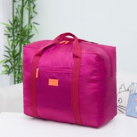 32L Outdoor Travel Foldable Luggage Bag Clothes Storage Organizer Carry-On Duffle Pack Wine Red
